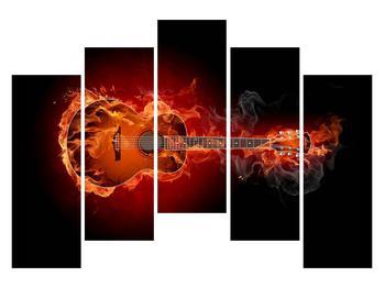 Lángoló gitár képe (K011168K12590)