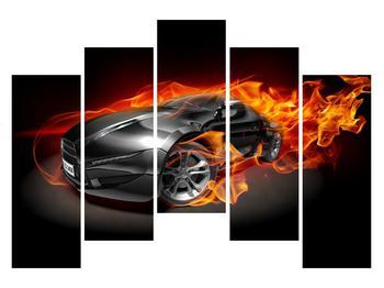Tablou cu mașina arzând (K011174K12590)