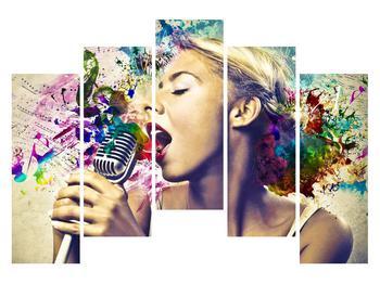 Énekesnő modern kép (K011273K12590)