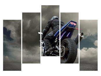 Tablou cu motociclist cu motocicletă (K011302K12590)