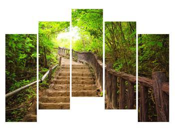 Tablou cu trepte ducând prin peisaj (K011329K12590)