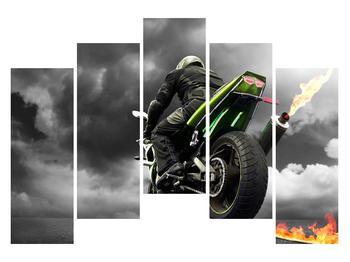 Tablou cu motociclist pe motocicletă (K011383K12590)
