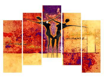Tablou abstract cu doi dansatori (K011975K12590)