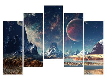 Tablou cu peisaj montan cu planete (K012168K12590)