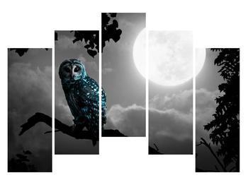 Tablou cu bufnița nocturnă (K012185K12590)