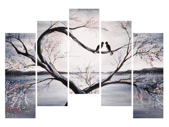 Tablou cu păsări îndrăgostite (K012516K12590)