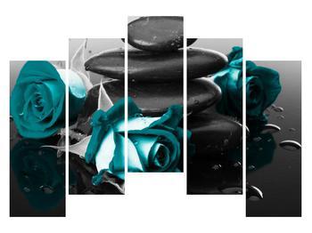 Tablou cu trandafiri albastre (K012553K12590)