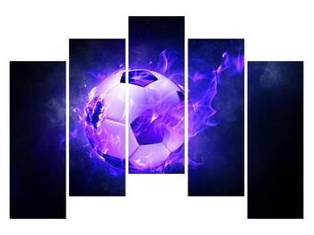 Tablou cu mingea de footbal în plasă (K014164K12590)