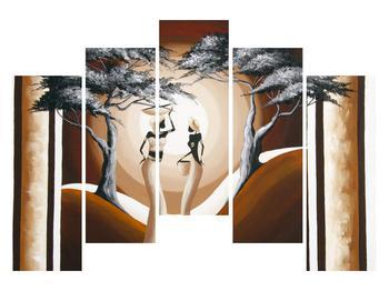Tablou oriental cu două femei și copac (K014682K12590)