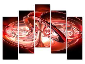 Obraz - červené tvary (V020064V12590)