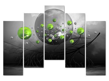 Obraz zelených abstraktných gulí (V020103V12590)