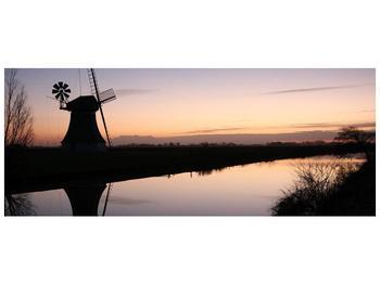 Obraz rybníku u mlýna (F001556F14558)