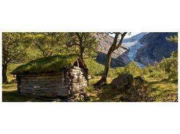 Obraz horské chatrče (F001636F14558)