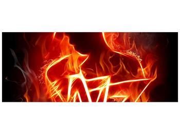 Obraz ohnivé postavy (F001691F14558)