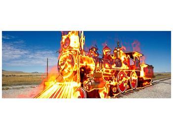 Obraz ohnivé lokomotivy (F001696F14558)