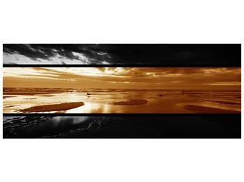 Dvroubarevný obraz moře (F001957F14558)