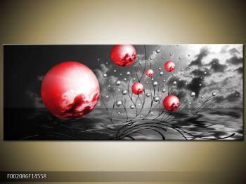 Moderní obraz - červené koule (F002086F14558)