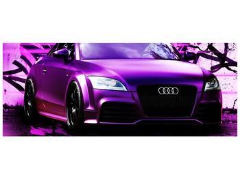 Obraz fialové Audi (F002349F14558)
