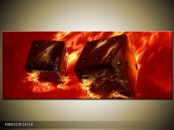 Moderní obraz hořících herních kostek (F004319F14558)