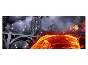 Tablou cu mașina arzând (K011167K14558)