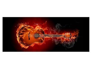Lángoló gitár képe (K011168K14558)