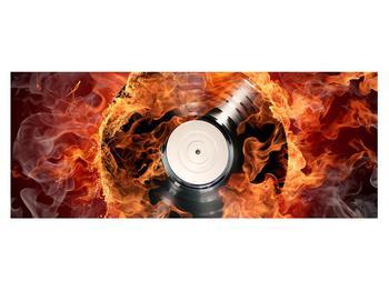 Tablou cu placă de gramofon în foc (K011171K14558)