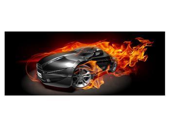 Tablou cu mașina arzând (K011174K14558)