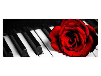 Zongora és egy rózsa képe (K011229K14558)