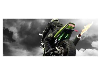 Tablou cu motociclist pe motocicletă (K011383K14558)