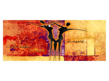 Tablou abstract cu doi dansatori (K011975K14558)