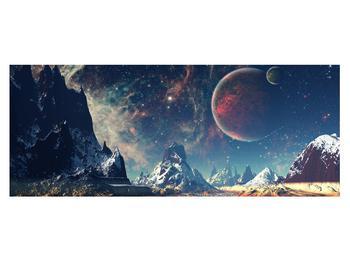 Tablou cu peisaj montan cu planete (K012168K14558)