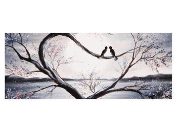 Tablou cu păsări îndrăgostite (K012516K14558)