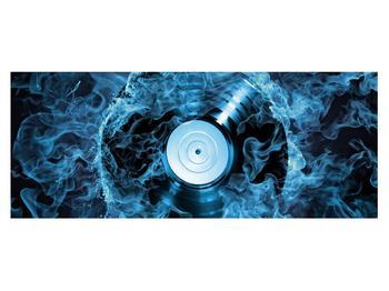 Tablou cu placă de gramofon în foc albastru (K014442K14558)