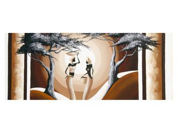 Tablou oriental cu două femei și copac (K014682K14558)