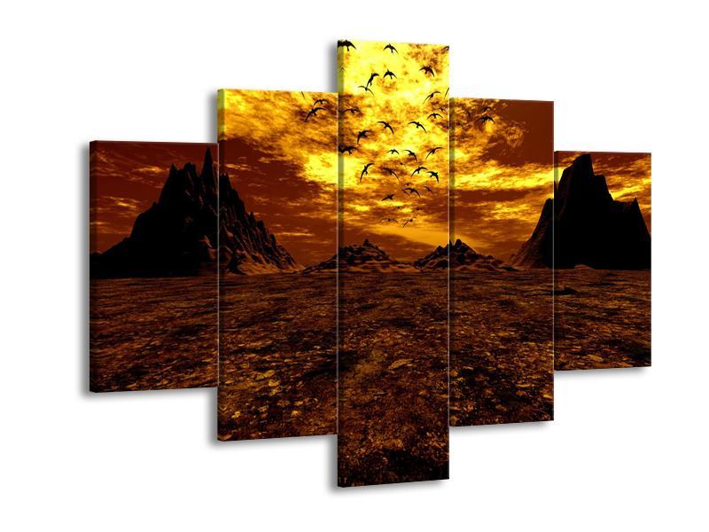 Obraz vyprahlého údolí (F000287F150105)