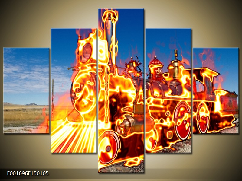 Obraz ohnivé lokomotivy (F001696F150105)