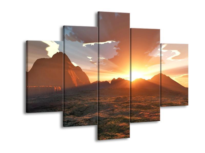 Obraz západu slunce nad horama (F001700F150105)