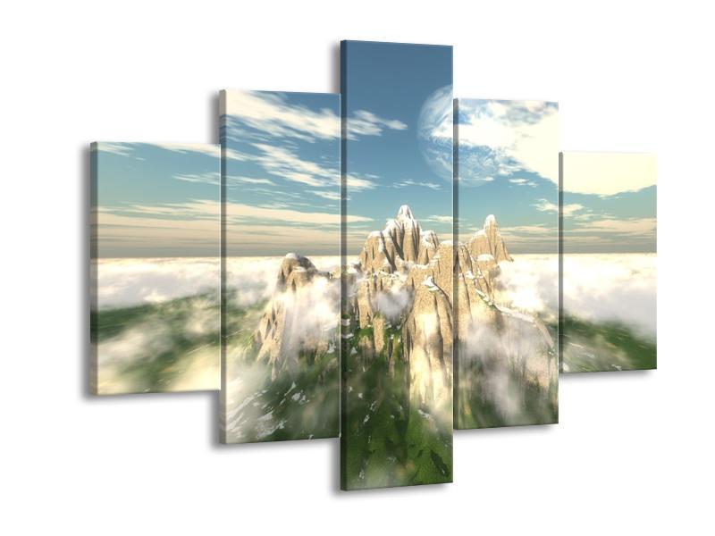 Obraz zasněžených vrcholů skal (F001715F150105)