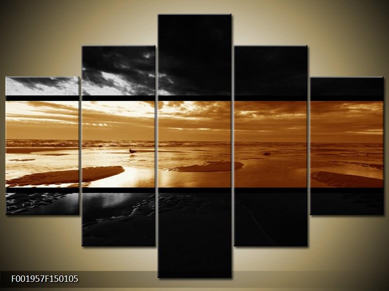 Dvroubarevný obraz moře (F001957F150105)