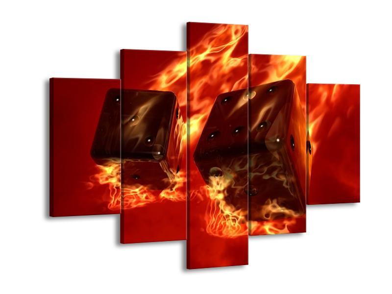 Moderní obraz hořících herních kostek (F004319F150105)