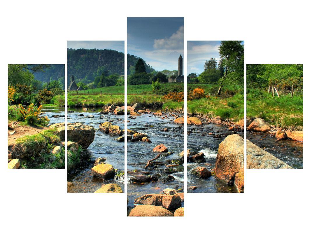 Slika planinskog krajolika s rijekom (K010406K150105)