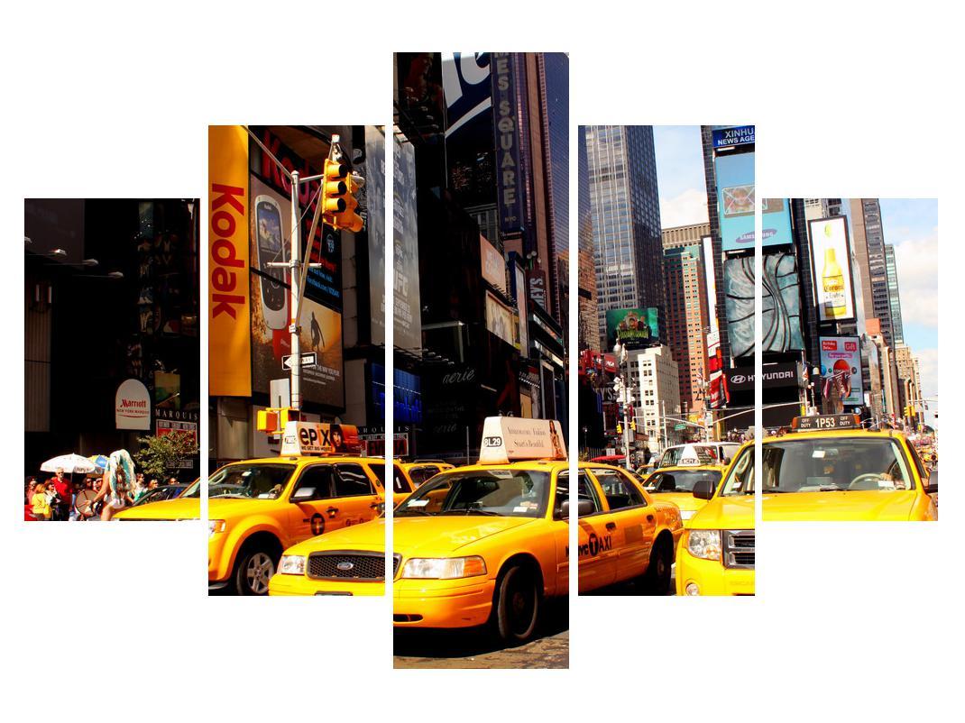 Slika žutih taksija u New Yorku (K010821K150105)