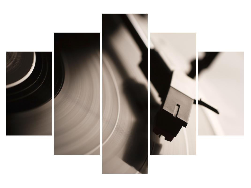 Detajlna slika gramofonske plošče (K011126K150105)