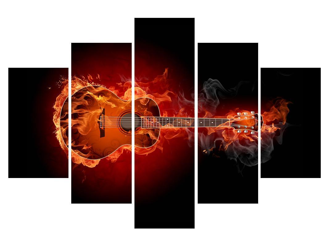 Slika kitare v ognju (K011168K150105)