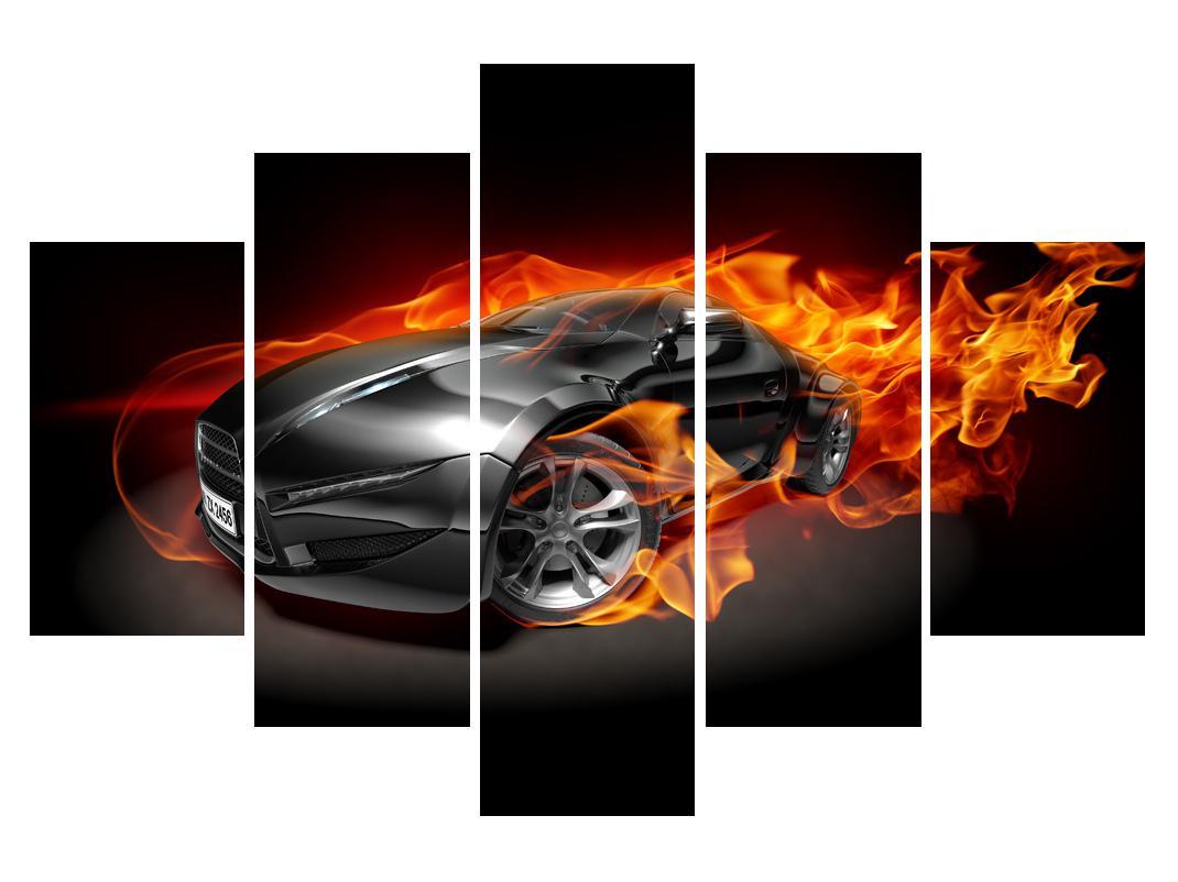 Slika automobila u plamenu (K011174K150105)