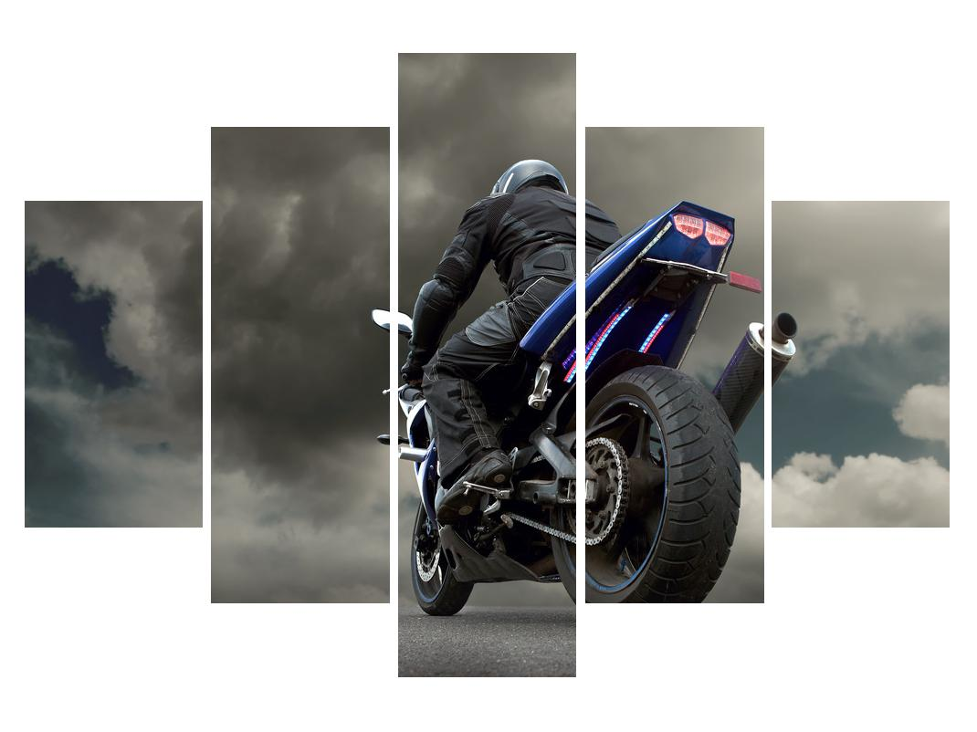 Slika bajkera na motociklu (K011302K150105)