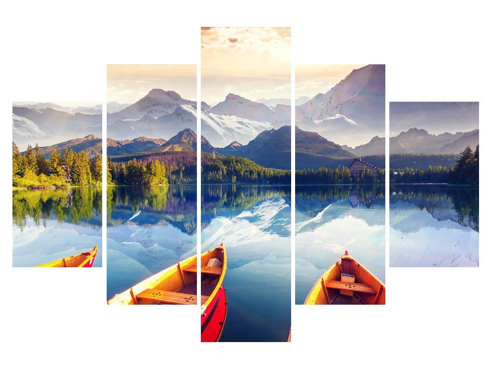 Slika planinskog krajolika s jezerom (K011330K150105)