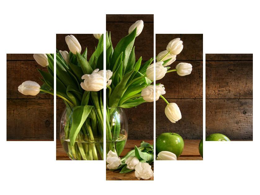 Slika tulipanov v vazi (K011364K150105)