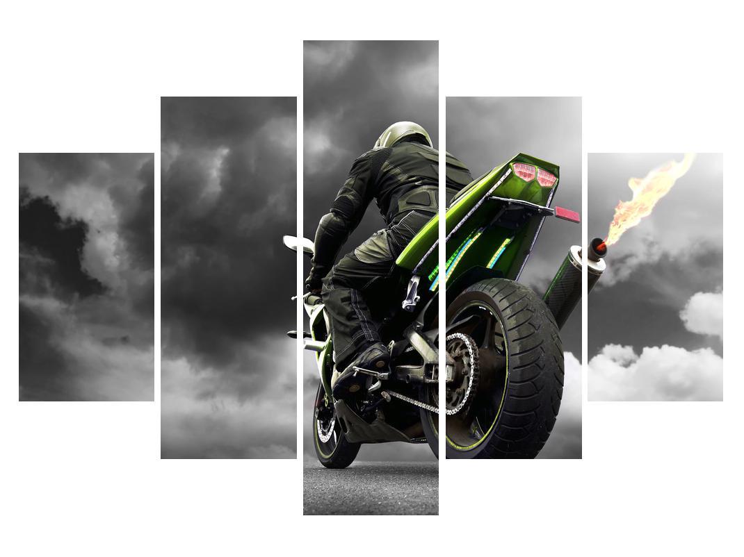Slika bajkera na motociklu (K011383K150105)