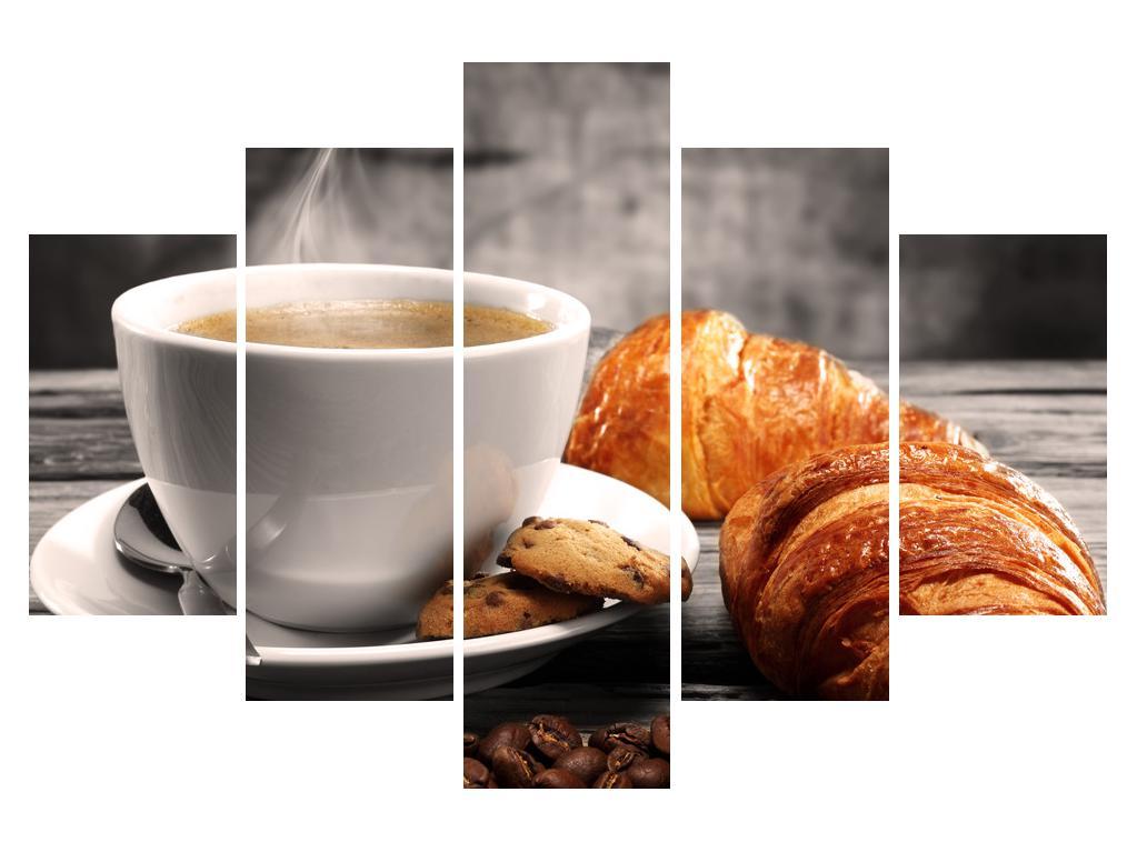 Slika šalice kave i kroasana (K011387K150105)